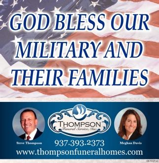 God Bless Our Military And Their Families, Thompson ...