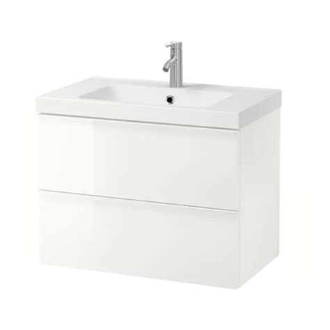 GODMORGON / ODENSVIK Sink cabinet with 2 drawers   high ...