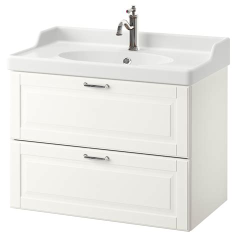 GODMORGON / RÄTTVIKEN Meuble lavabo 2tir, Kasjön blanc ...