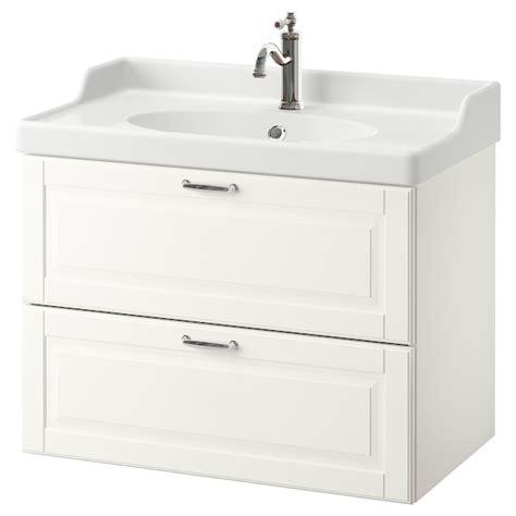 GODMORGON / RÄTTVIKEN Mueble de lavabo con 2 cajones ...