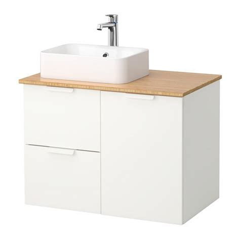 GODMORGON/TOLKEN / HÖRVIK Mobile per lavabo con lavabo ...