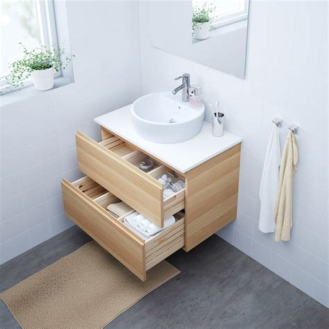 GODMORGON/TOLKEN / TÖRNVIKEN Mobile/lavabo 45/piano ...