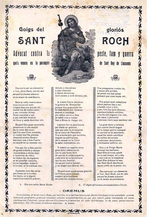 Goigs a sant Roc. Sant Boi de Lluçanès  Osona, Barcelona .