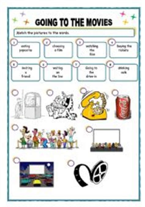 going to the movies   ESL worksheet by memarta