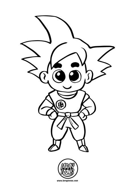 Goku Chibi para Colorear   Dibujando con LarayToons