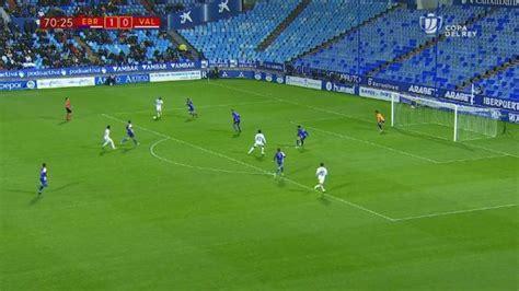 Gol de Santi Mina  1 1  en el CD Ebro 1 2 Valencia CF
