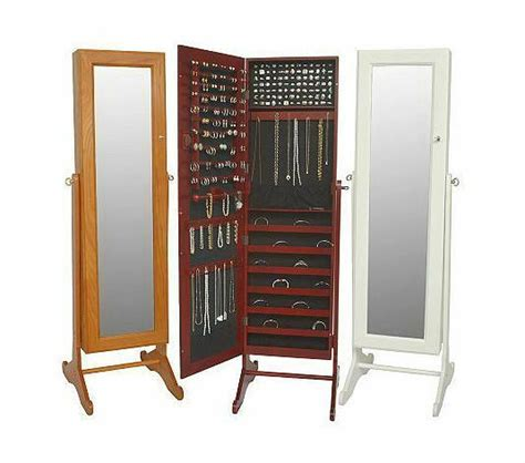 Gold & Silver Safekeeper Mirrored Jewelry Cabinet by Lori ...