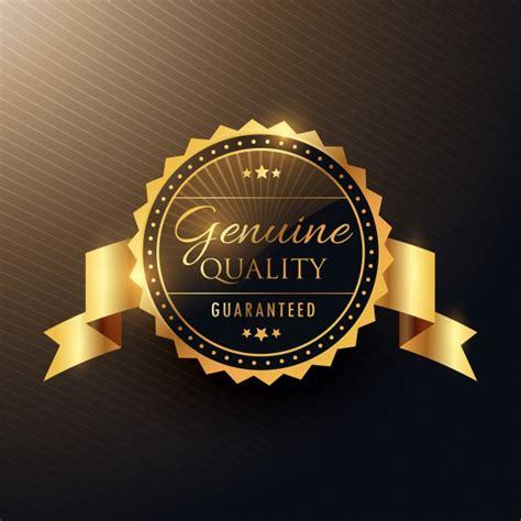 Golden label, premium quality   Free Vector