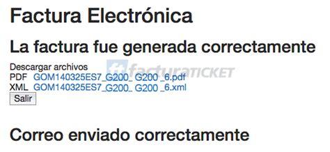 GOMART Facturación Facturar Ticket   Descargar XML