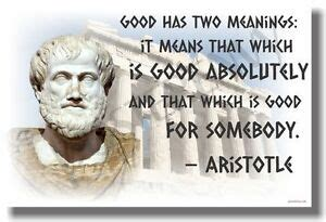 Good Has Two Meanings   Aristotle   NEW Famous Greek ...