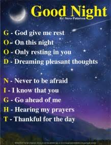 Good Night Acronym | Courageous Christian Father