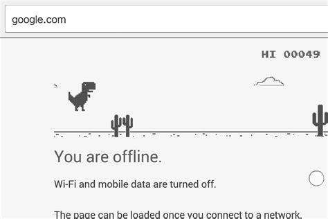 Google Chrome s Offline Dinosaur Game Has An Easter Egg