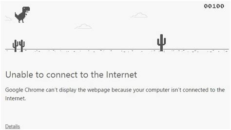 Google Chrome s  Unable to connect to the Internet  page ...