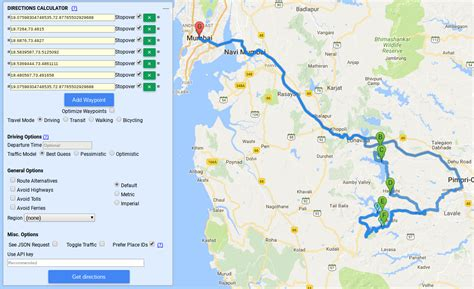 google maps   Create a circuit route by passing waypoints ...
