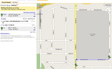 Google Maps Includes Walking Directions