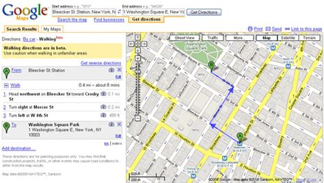 Google Maps Launches Walking Directions — SitePoint