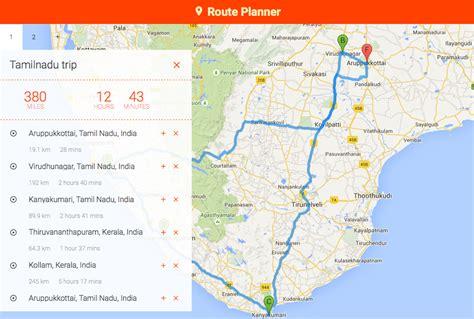 Google Maps Route Planner using ReactJS