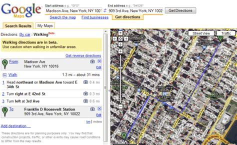 Google Maps Tests Walking Directions