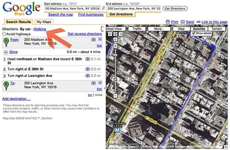 Google Maps Walking Directions Now Live   Search Engine Land