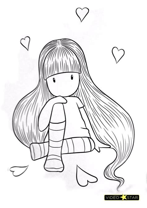 Gorjuss Girls | Coloring pages, Clip art, Art drawings