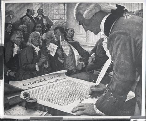 Grabados acerca de la firma de la Declaración de la ...