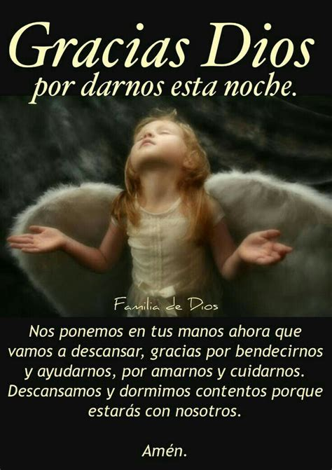 Gracias Dios | Good night quotes, Quote posters, Healing words