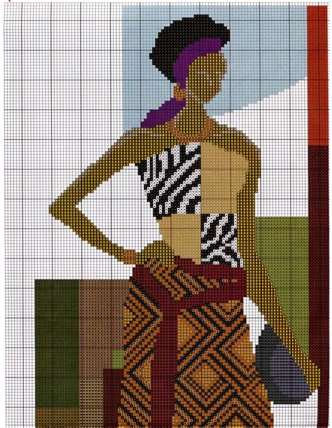 GRAFICOS PUNTO DE CRUZ GRATIS : AFRICANAS 24