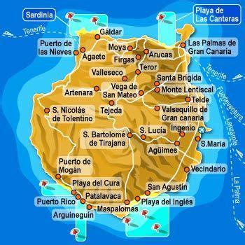 gran canaria map | Gran canaria, Canary islands, Canary ...