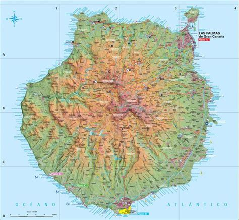 Gran Canaria map  With images  | Tourist map, Map, Gran ...