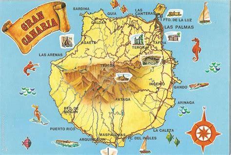 Gran canaria, mapa de la isla   d.global trader   Vendido ...