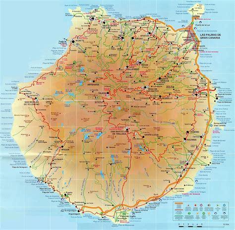 Gran Canaria: Mapa. | Islas canarias, Mapas, Islas