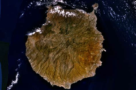 Gran Canaria | Mapa: Satellite picture
