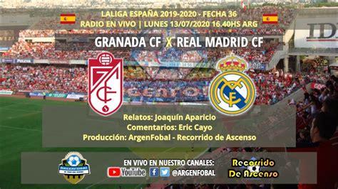 Granada x Real Madrid | LaLiga España 2019 2020 | Radio En ...