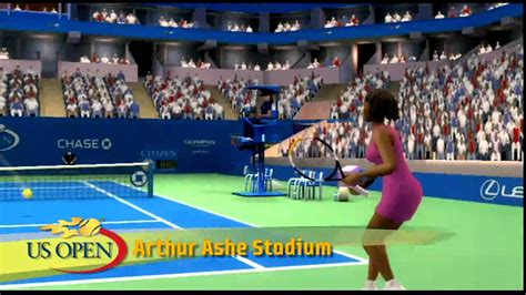 Grand Slam Tennis Wii courts video game play all 4 grand ...