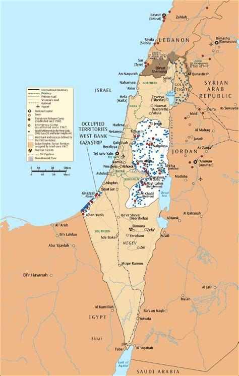Grande mapa de Israel y los territorios ocupados   Israel ...