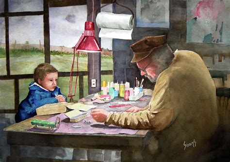 Grandpa s Workbench Painting by Sam Sidders