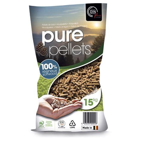 Granulés de bois PURE PELLETS en sac, 15 kg | Leroy Merlin