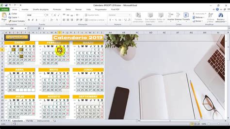 Gratis Nuevo Calendario Excel 2019 Muy Práctico con Agenda ...