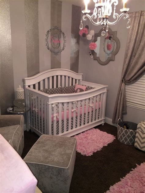 Gray, White and Pink Nursery   Project Nursery