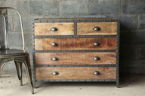 great industrial dresser | Vintage industrial decor ...