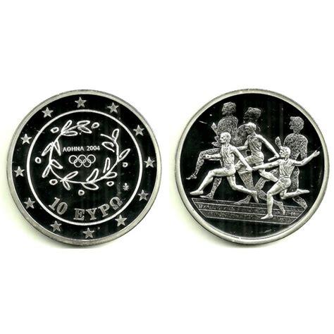 Grecia. 2004. 10 Euro  Proof   Plata  Juegos Olímpicos ...