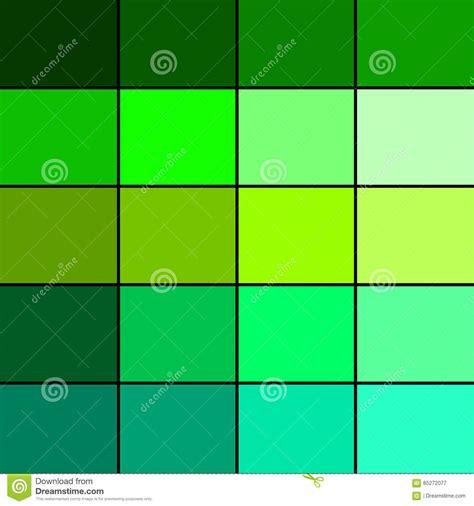 Green Color Palette stock illustration. Illustration of ...