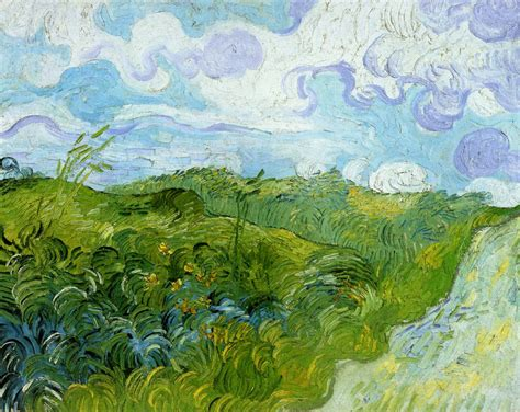 Green Wheat Fields, 1890   Vincent van Gogh   WikiArt.org