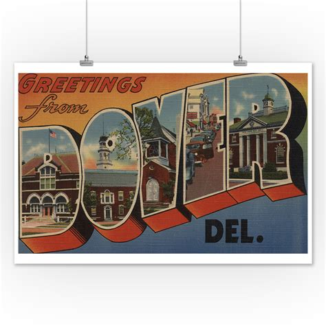 Greetings from Dover, Delaware  12x18 Art Print, Wall ...