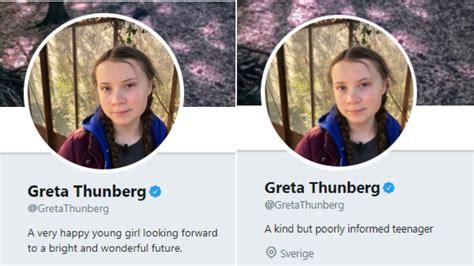 Greta Thunberg changes her Twitter bio to reflect Vladimir ...