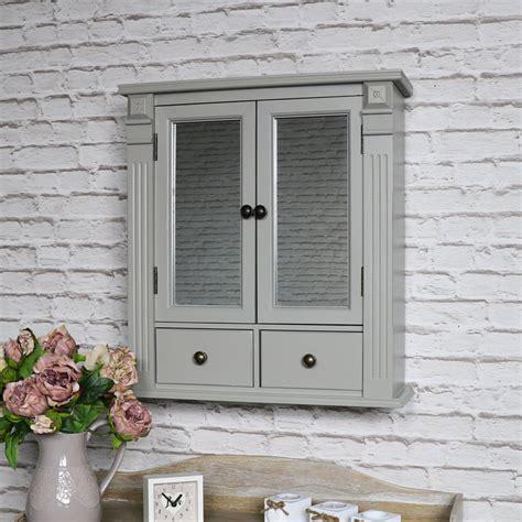 Grey Mirrored Bathroom Cabinet with Drawer Storage | Flora ...
