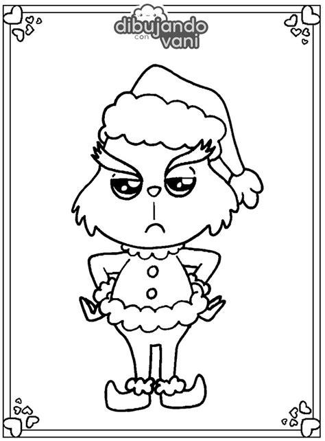 grinch kawaii para imprimir   Dibujando con Vani