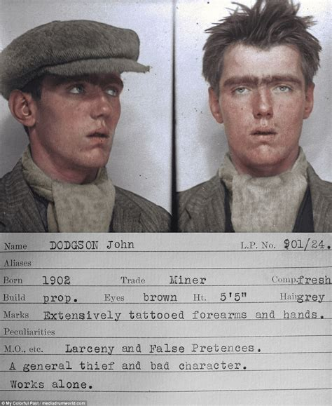 Gritty 1930s mugshots of Newcastle criminals | Daily Mail ...