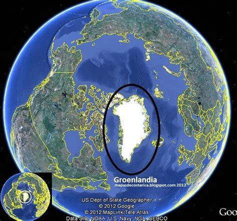 Groenlandia, google earth 2012