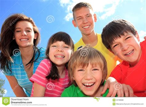 Group Of Happy Children Royalty Free Stock Photos   Image ...
